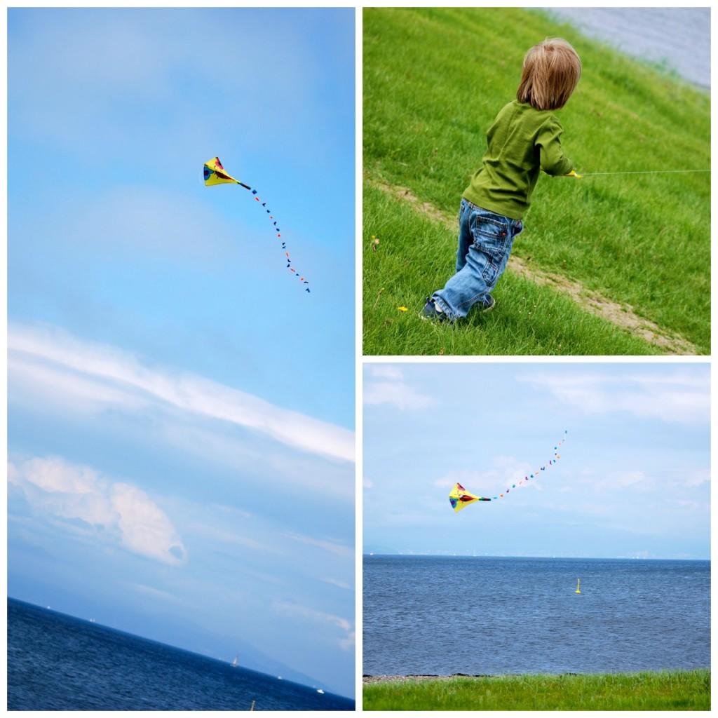 fly drage på stranda