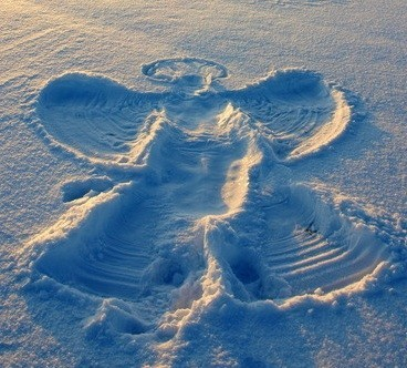 engel i sneen