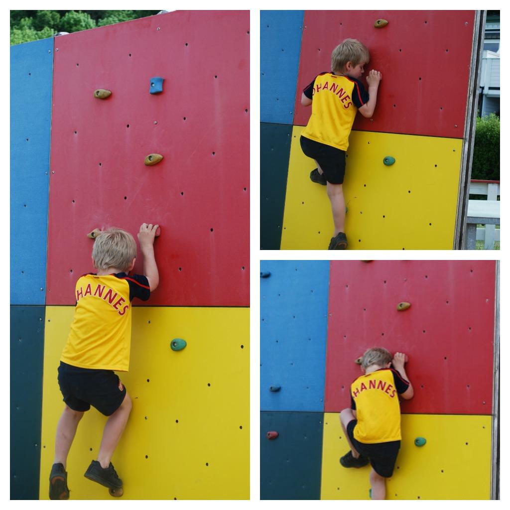 barn i klatrevegg