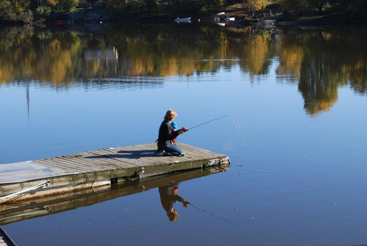 fisketur - vakker høstdag