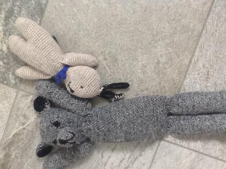 strikket Bamse og Kanin