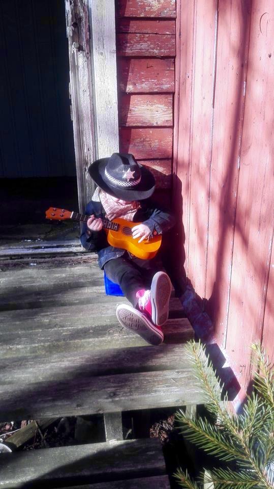Cowboyen på trappa