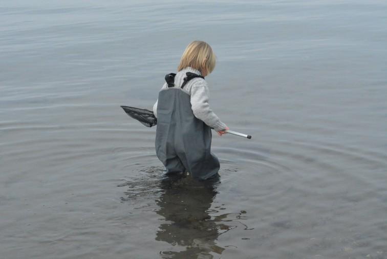 Langt ute i vannet med Barnevaderen