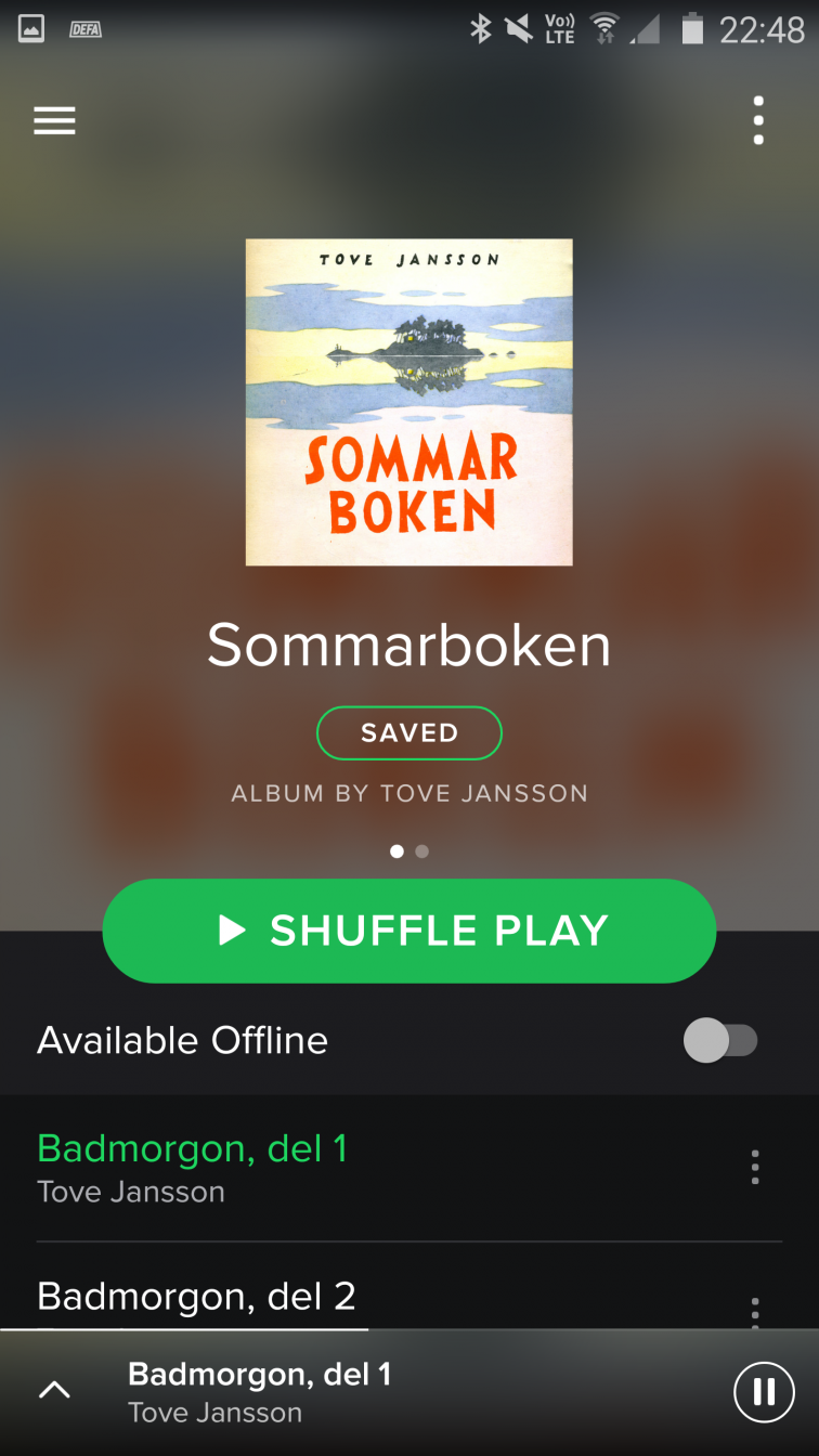 Sommerboken på Spotify