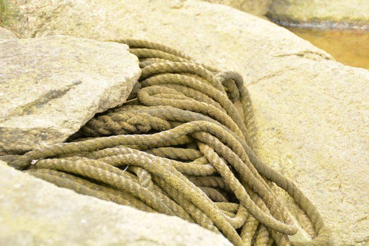 rep fra en båt