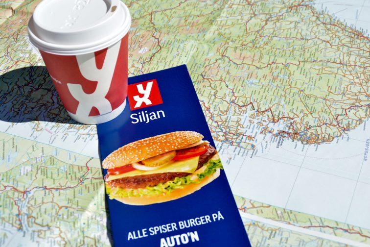 kaffe, kart og meny Siljan