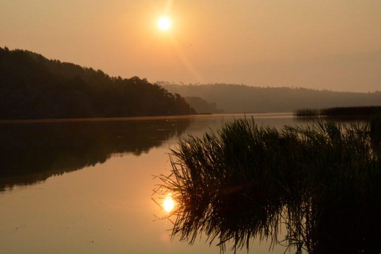 Soloppgang en septembermorgen Foto: Petrue og petrine