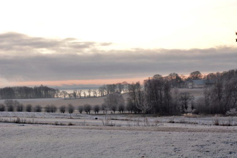 utsikt mot alby en desembermorgen Petrusogpetrine.no