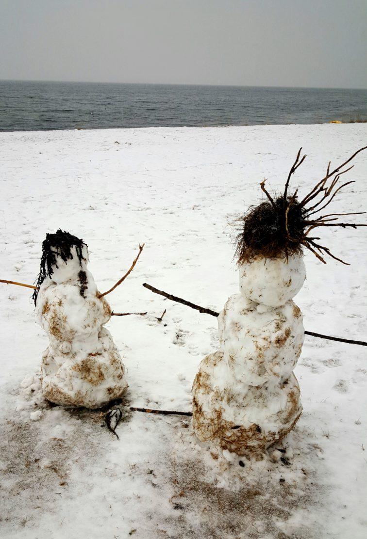 snømenn Landart Petrusogpetrine.no
